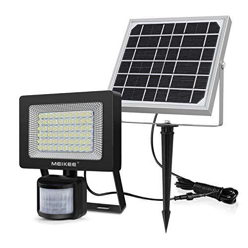 60 LED Solarlampe Solarleuchte Solarstrahler Bewegungsmelder Leuchte White Lampe