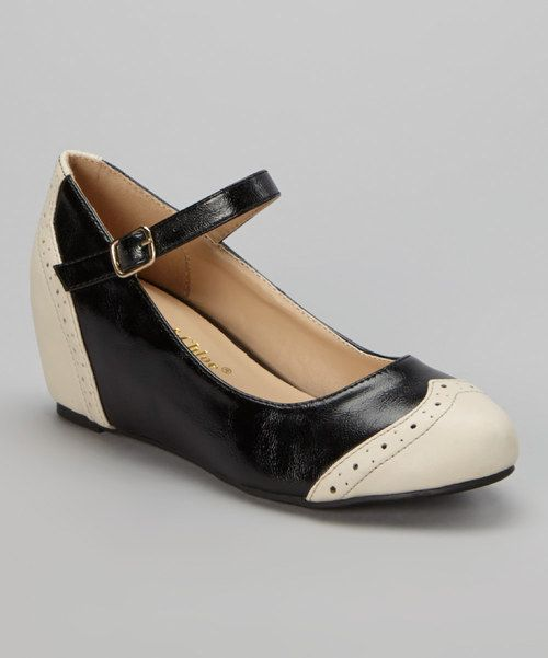 Look at this Black Bobby Wedge on #zulily today!
