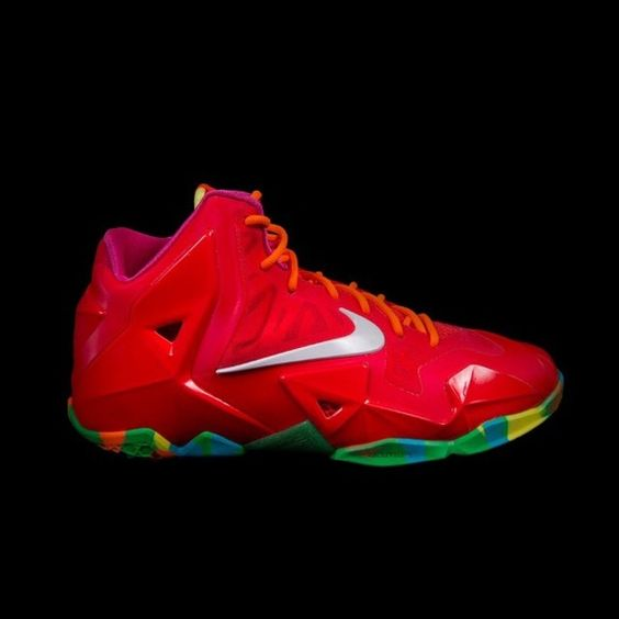 Lebron 11 fruity pebbles Mid condition- 7.5 only worn a few times Nike Shoes Sneakers
