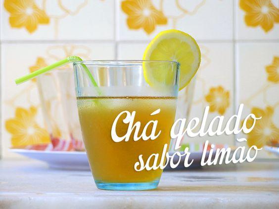 Receita de chá preto gelado com limão siciliano super fácil e rápida de fazer. Uma delícia refrescante para o verão que se aproxima!