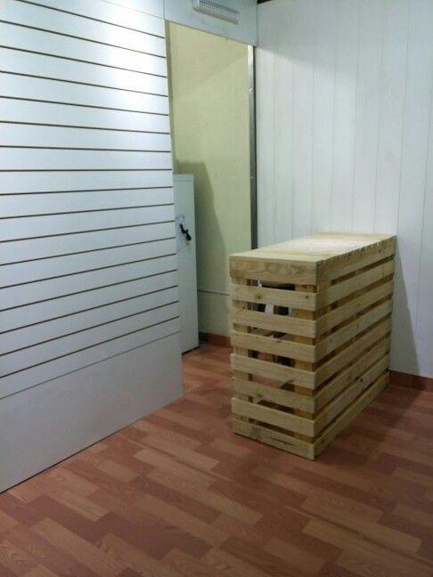 Mostrador para tienda hecho con palets reciclados cosas - Mostrador de palets ...