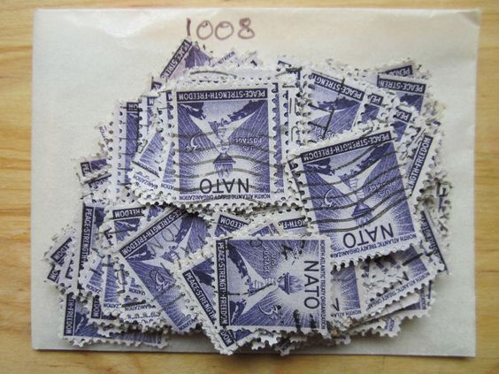 #1008 - 3¢ NA Lot x 100 Used US Stamps See our other items for more inventory