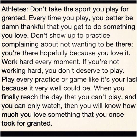 Athletes.....