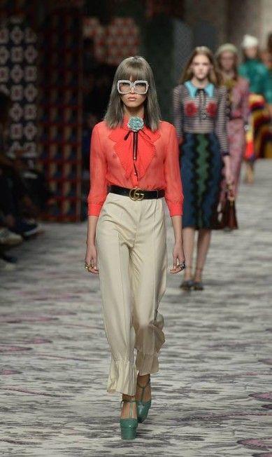 Gucci primavera/verão 2016 TIZIANA FABI / AFP
