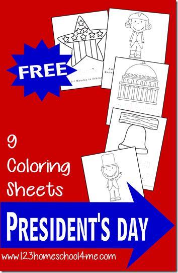 Presidents Day Coloring Pages For Kindergarten : Homeschool kindergarten and toddler preschool on pinterest