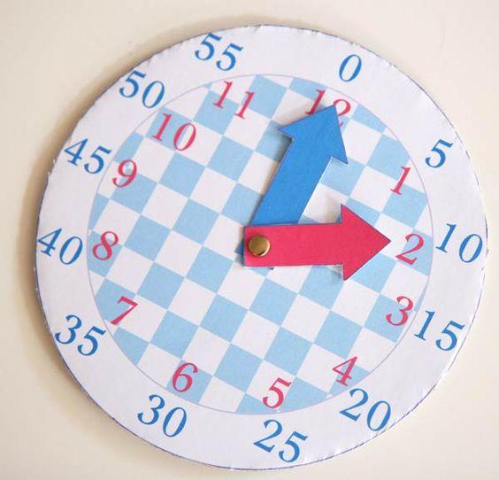 une horloge pour apprendre lire l 39 heure bricolage. Black Bedroom Furniture Sets. Home Design Ideas