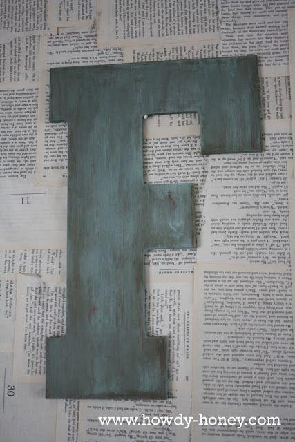 Howdy Honey: Distressed Letter Decor