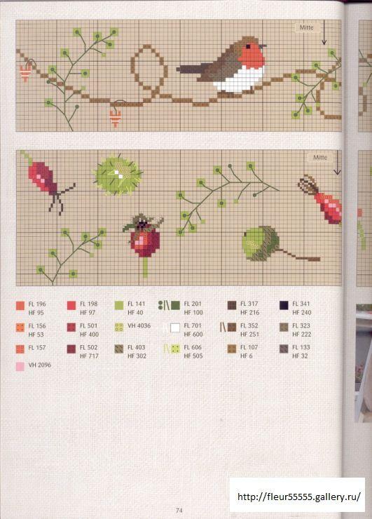 Extrait de Jahreszeiten Herbst & Winter de Christiane Dahlbeck Le lien mène au livre complet pour d'autres diagrammes
