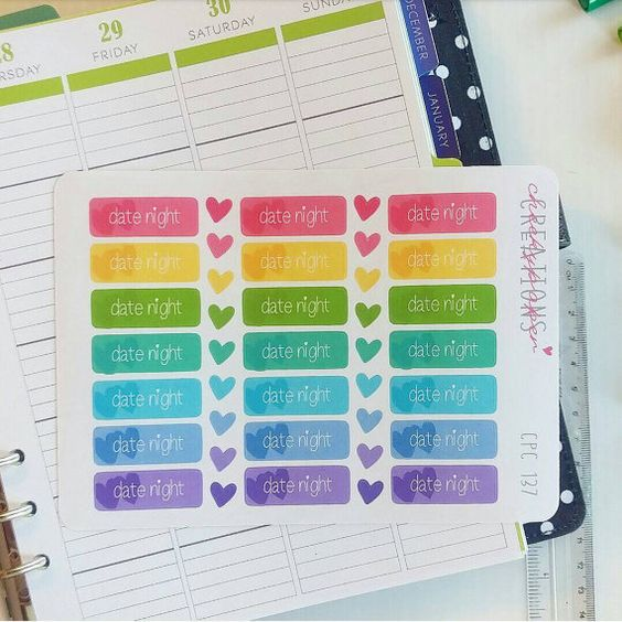 CPC 137 Date Night Label Sticker  Plum by CheekyPaperCreations