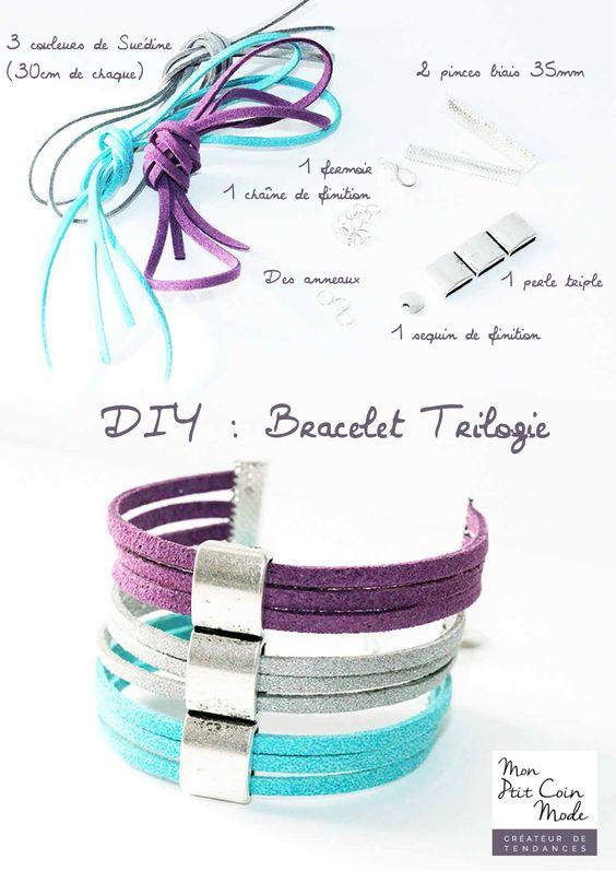 DIY - tutoriel bracelet suédine