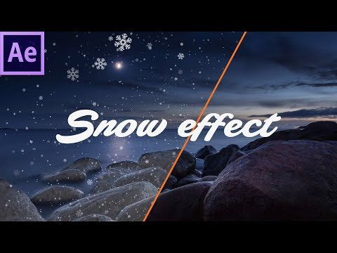 How To Make Snow Effect In After Effects Youtube After Effects Motion Graphics Tutorial Adobe After Effects Tutorials