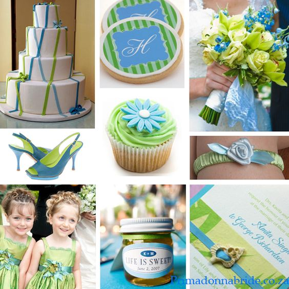 Decorative ideas - for a wedding or for any special event to recognize National Blue and Green Day. Description from pinterest.com. I searched for this on bing.com/images