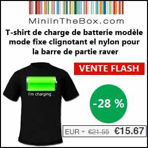#missbonreduction; Vente flash : remise de 28% sur le t-shirt de charge de batterie modèle mode fixe clignotant el nylon pour la barre de partie raver chez Miniinthebox. 	http://www.miss-bon-reduction.fr//details-bon-reduction-Miniinthebox-i852881-c1840994.html