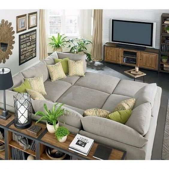 What A Perfect Sofa Huge Grey Greige Sofa TV Room Living Rooms Pinterest  TVs Gray And