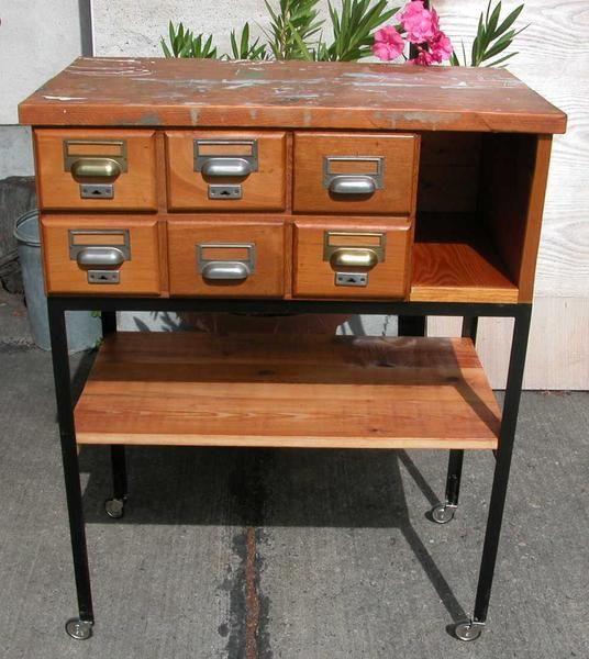 Altes Werkstattmöbel aus den 50er Jahren von Buch & Möbel  auf DaWanda.com
