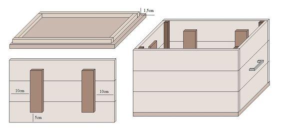 holzkiste selber bauen holz werkeln pinterest basteln. Black Bedroom Furniture Sets. Home Design Ideas
