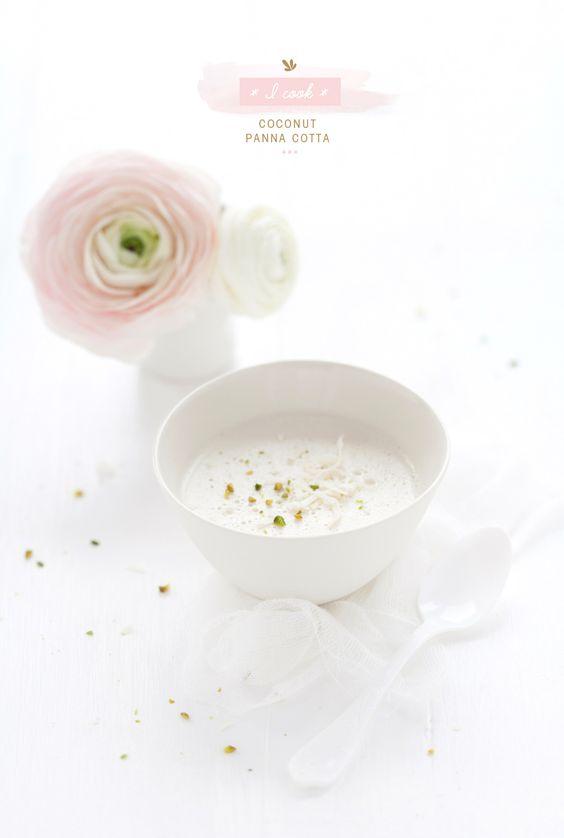 Coconut Panna Cotta / My Little Fabric {epp love love this photo} #recipe #dessert