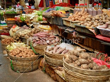 Root Vegetables In The Market . . .