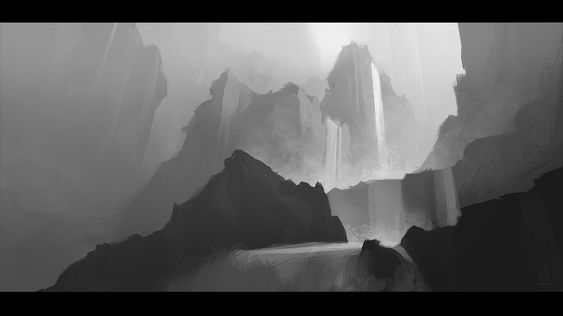 Waterfall Sketch by JadrienC on DeviantArt