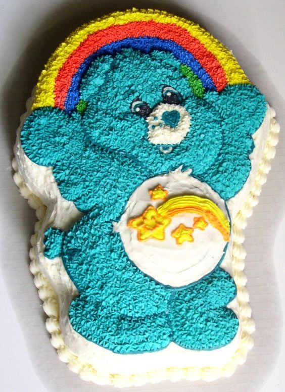 Care bear cake! This was my cake for when I turned five. My mom made it!: