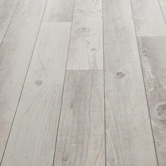 Kitchen - Vinyl Floor Tile - Option 1 - Floorgrip 592 Bastogne White Wood Effect Vinyl Flooring
