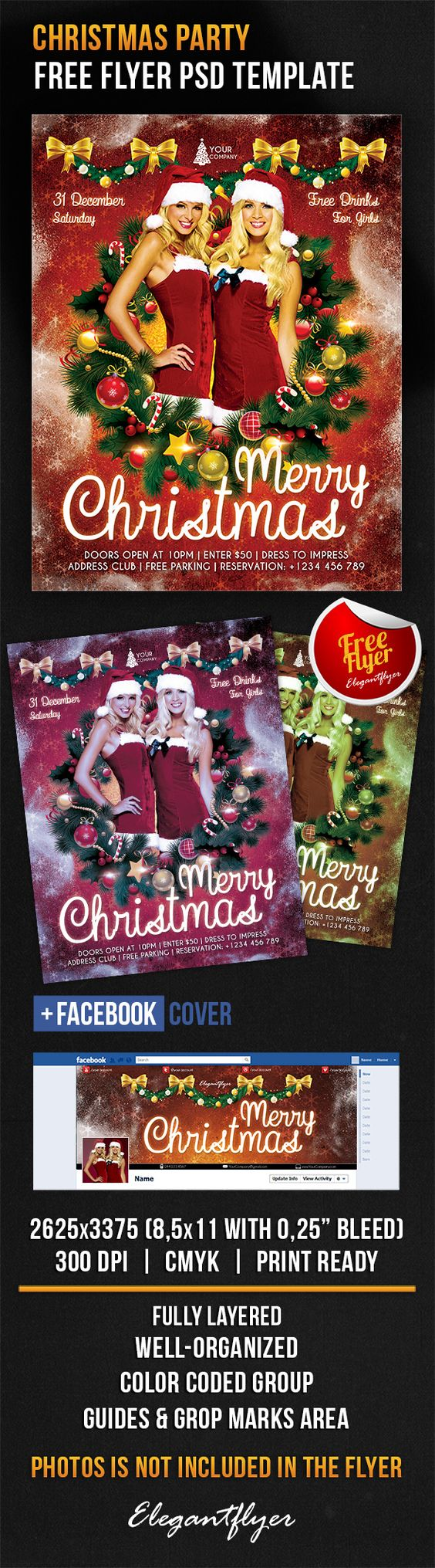 christmas party flyer psd template facebook cover christmas party flyer psd template facebook cover