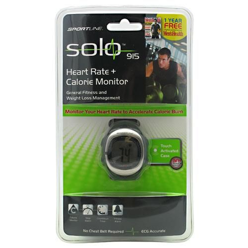 Solo 915  Men's Heart Rate + Calorie Monitor is the 1st of its kind to incorporate Any-Touch heart rate technology. The Solo 915 doest not require a chest belt allowing you to measure your heart rate on the go. A single touch delivers ECG accurate measurements in seconds.
