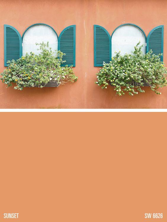 Paint colors paint and orange paint colors on pinterest - Benjamin moore regal select exterior ...
