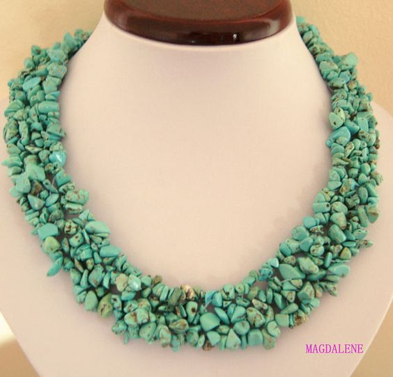Turquoise  Necklace , SPRING, EASTER, UK jewellery, FRESH £15.00