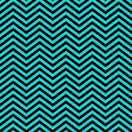 Papel de parede estilo zigzag também conhecido como chevron ou espinha de peixe, nas cores de azul tiffany e preto. Inspirado na famosa grife de moda tiffany.