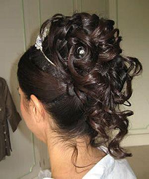 Coiffure Mariage Chignon Boucl Cheveux Bruns Id Es Coiffure Mariage Pinterest Coiffures