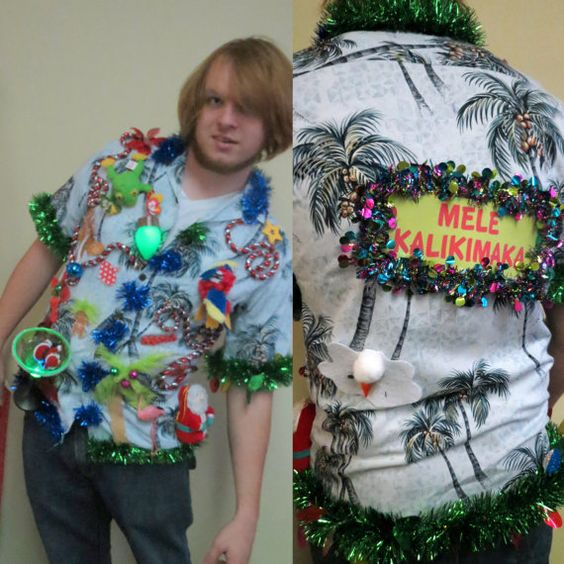 Tropical Tacky Ugly Christmas Sweater Party Hawaiian Shirt