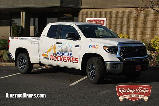 Seattle Rockeries Toyota Tundra Truck Graphics Mercer Island Wa