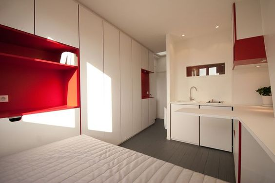 Aménagement studio Paris : 10m2 fonctionnels | Studio, Design ...