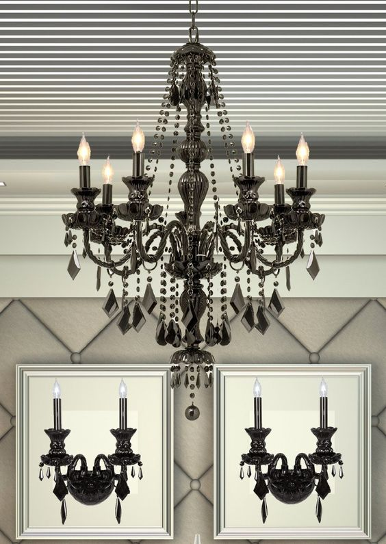 3 Piece Candle Chandelier and Wall Sconce Set