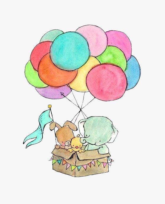 الفيل بالون بالون اللون جرو Png وملف Psd للتحميل مجانا Nursery Art Baby Art Art
