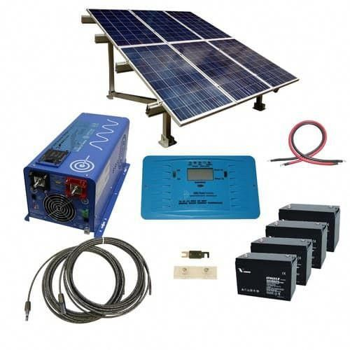 720 Watt Off Grid Solar Kit With 3000 Watt Pure Sine Inverter Charger 24 Volt And Ground Mount Rack Solarpanels Solarenergy Sol In 2020 Solar Kit Solar Panels Solar