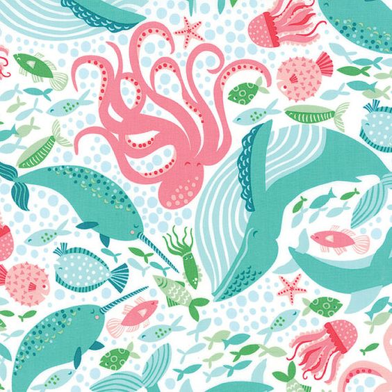 Coral Queen of the Sea  by Stacy Iest Hsu by morethanjustquilts