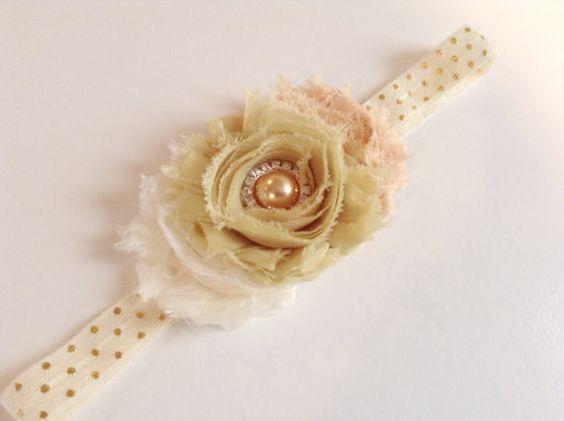 Toddler girl headband toddler headband gold by BlessedwithAccents