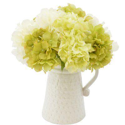 Pin By Wanda Sloan On Mothers Day 2020 In 2020 Hydrangea Flower Arrangements Rose Floral Arrangements Faux Hydrangea