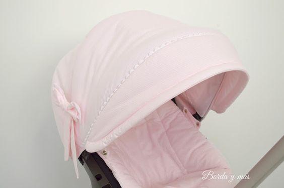 funda capota Stokke Xplory rosa blanco