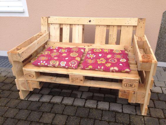 sitzbank aus europaletten europalletten pinterest. Black Bedroom Furniture Sets. Home Design Ideas