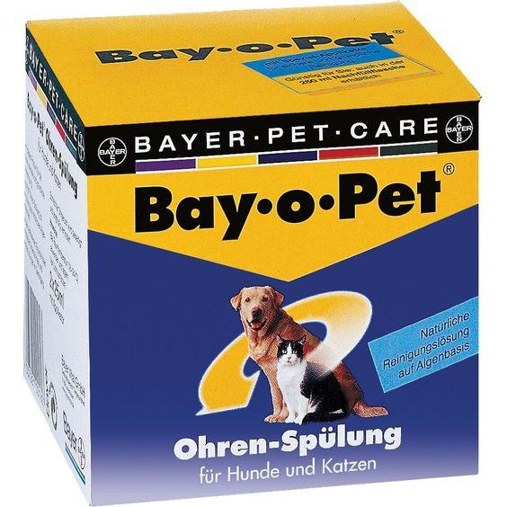 BAY O PET Ohrreiniger f.kleine Hunde-Katzen:   Packungsinhalt: 2X25 ml Flüssigkeit PZN: 07375737 Hersteller: Bayer Vital GmbH GB -…
