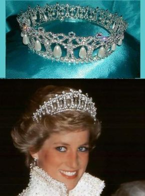 Cambridge Lover's Knot Tiara. Diana made this the most well known Tiara in the world.