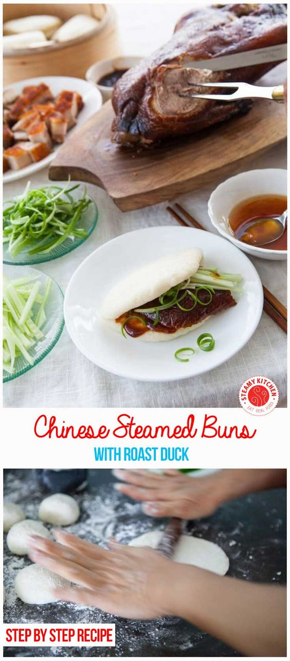 Chinese Steamed Buns Recipe - step by step instructions, plus secret tips to white, fluffy, perfectly steamed buns that don't collapse. ~ http://steamykitchen.com