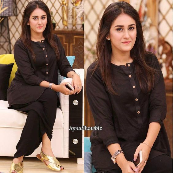 Pakistani Kurta Designs For Ladies Black Linen Winter style Kurta