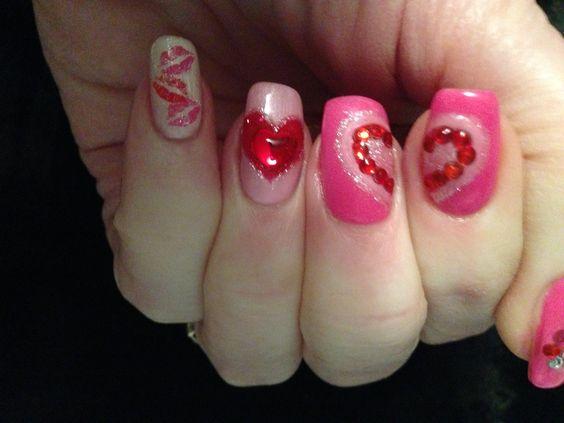 My Valentine's nails this year!