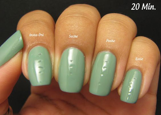 Hooked On Polish: Top Coat Comparison Pt. 2 - Seche Vite vs. Essie Good to Go vs Poshe vs SH Insta-Dri