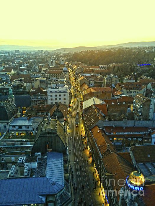 Zagreb At Sunset In 2020 Some Beautiful Images Fine Art America Zagreb