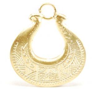 Abalorio africano bañado en oro mate. Ya disponible en Fills M. Sala.